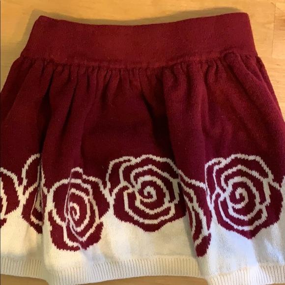 Cotton toddler rose skirt
